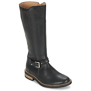 Chaussures Fille Bottes ville Garvalin KAISER Noir
