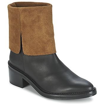 Bottines / Boots Miista KAMILA Noir / Marron 350x350