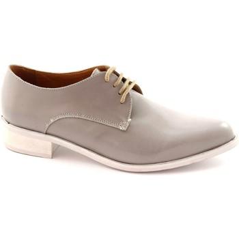 Chaussures Femme Derbies Mat:20 MAT: 20 2502 LUX femme de pierre chaussures lacets pointe de pei Grigio