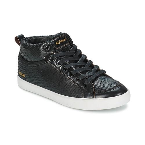 Chaussures Femme Baskets montantes Feiyue DELTA MID DRAGON Noir