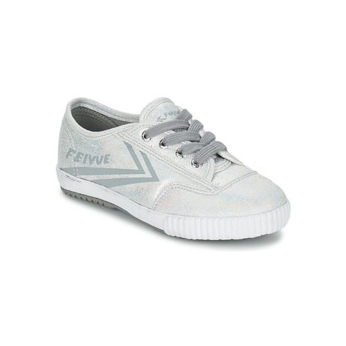 Chaussures Fille Baskets basses Feiyue FE LO GLITTER Argent