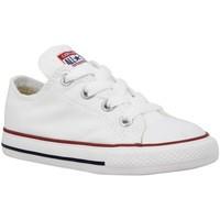 Chaussures Enfant Baskets mode Converse Chuck Taylor All Star toile Enfant Blanc Blanc