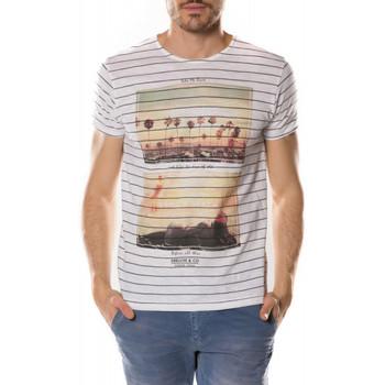 Vêtements Homme T-shirts manches courtes Deeluxe T Shirt  Venice blanc