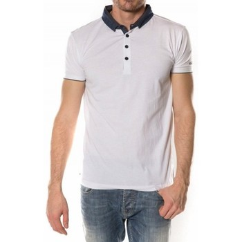 Vêtements Homme Polos manches courtes Deeluxe Polo  Again blanc 38