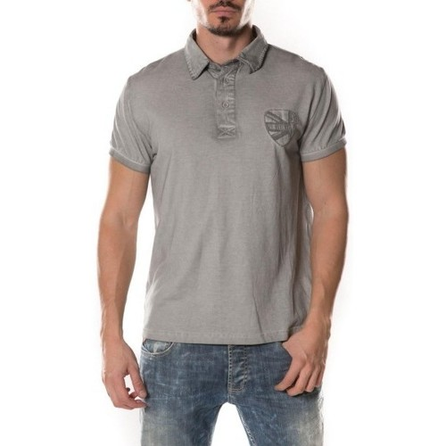 Vêtements Homme Polos manches courtes Deeluxe Polo Homme Ruppart gris metal