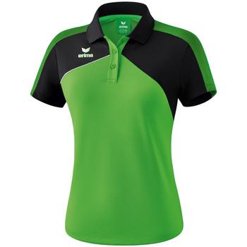 Vêtements Femme Polos manches courtes Erima Polo femme  Premium One 2.0 vert/noir/blanc