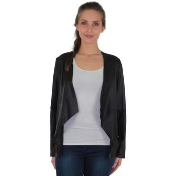 Vêtements Femme Blousons Giorgio Cuirs Veste Giorgio Elisatia Agora en cuir ref_36617 Noir Noir