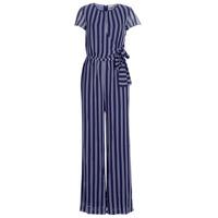 Vêtements Femme Combinaisons / Salopettes MICHAEL Michael Kors MEGA RAILRD ST  JMPST Marine / Blanc