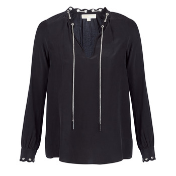 Vêtements Femme Tops / Blouses MICHAEL Michael Kors SCALLP GRMT CHAIN TOP Noir