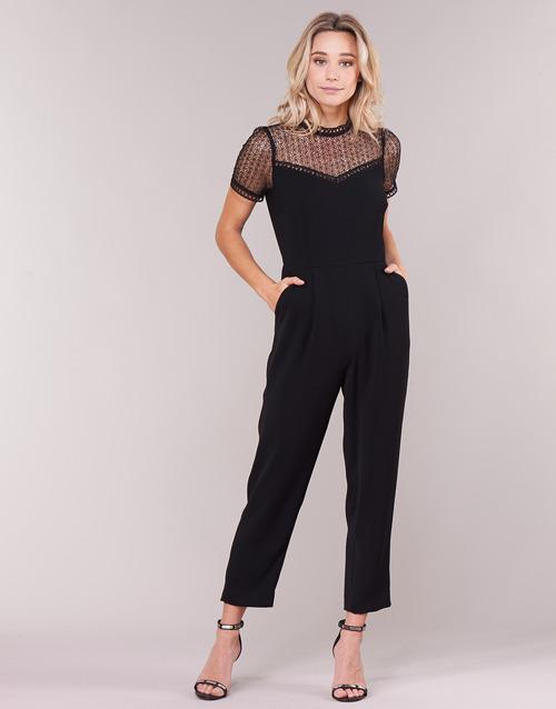 Vêtements Femme Combinaisons / Salopettes MICHAEL Michael Kors LACE YOKE JUMPSUIT Noir