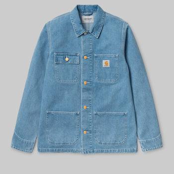 Vêtements Homme Manteaux Carhartt Work In Progress Carhartt WIP Michigan Chore Coat - Blue 19