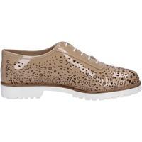 Chaussures Femme Derbies La Regina élégantes beige cuir verni BT793 beige