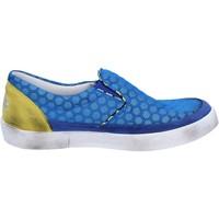 Chaussures Femme Slip ons 2 Stars slip on bleu textile jaune daim BT802 bleu