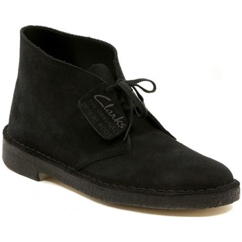 Chaussures Boots Clarks DESERT BOOT NAVY SUEDE Multicolore