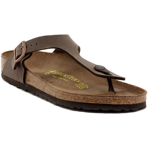 Chaussures Femme Tongs Birkenstock GIZEH MOCCA Multicolore