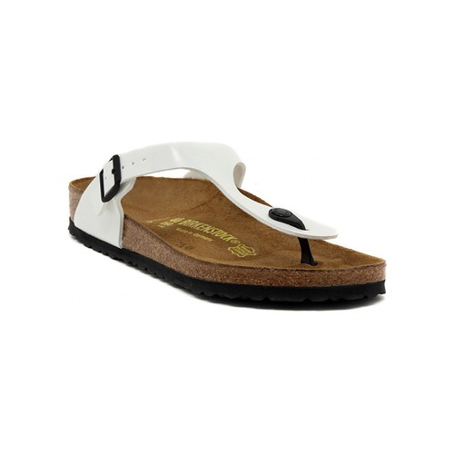 Chaussures Femme Tongs Birkenstock GIZEH WEISS Multicolore