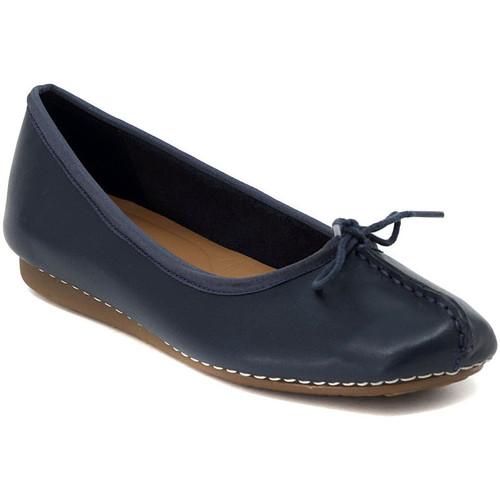 Chaussures Femme Ballerines / babies Clarks FRECKLE NAVY Multicolore