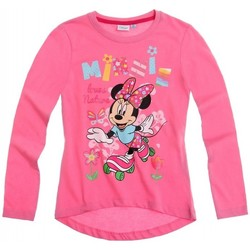 Vêtements Fille T-shirts manches longues Disney Minnie Mouse T-shirt à manches longues Disney Rose