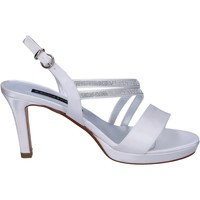 Chaussures Femme Sandales et Nu-pieds Bacta De Toi sandales blanc satin strass BT845 blanc