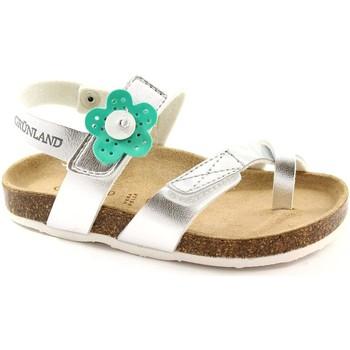 Chaussures Fille Sandales et Nu-pieds Grunland Grünland DEHA SB0548 24/30 sandales d'argent déchirure de l'enfa Argento
