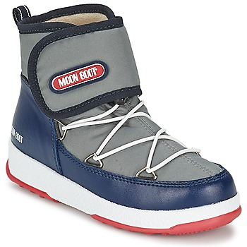 Bottes Moon Boot MOON BOOT WE STRAP JR Gris / Bleu 350x350