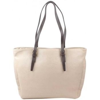 Sacs Femme Cabas / Sacs shopping Fuchsia Sac cabas  Efix fourrure effet mouton beige nude Multicolor