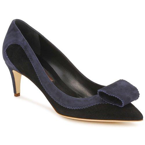 Chaussures Femme Escarpins Rupert Sanderson BESSIE Bleu / Noir