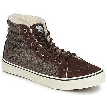Chaussures Femme Baskets montantes Vans CHUKKA SLIM Marron