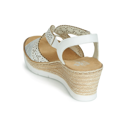 pieds Pascaline Sandales Et Blanc Femme Rieker Nu 29WHIYED