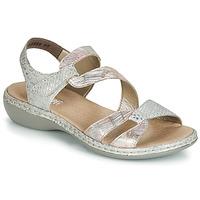 Chaussures Femme Sandales et Nu-pieds Rieker AMAZU Argenté