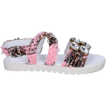 strass rose BT872 rose Ioannis textile Sandale sandales Chaussures Stpgvw