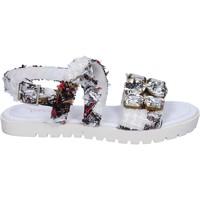 Chaussures Femme Sandales et Nu-pieds Ioannis sandales blanc textile strass BT873 blanc