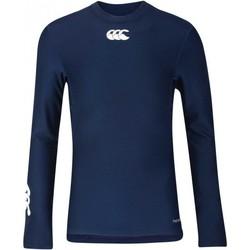 Vêtements T-shirts manches longues Canterbury Baselayer rugby Thermoreg - Bleu