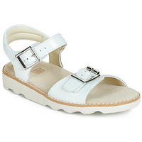 Chaussures Fille Sandales et Nu-pieds Clarks Crown Bloom K Blanc