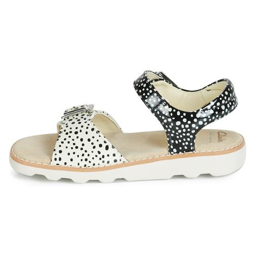 Bloom Fille Sandales Et K Crown Clarks Nu Chaussures pieds Noir 2H9WDEI