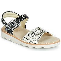 Chaussures Fille Sandales et Nu-pieds Clarks Crown Bloom T Noir