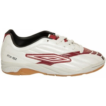 Chaussures Enfant Baskets basses Umbro Basket  MX82 Blanc/Rouge Blanc