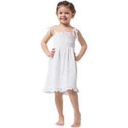 Vêtements Fille Robes courtes La Cotonniere ROBE ANGELINE Blanc