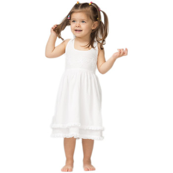 Vêtements Fille Robes courtes La Cotonniere ROBE LEONOR Blanc