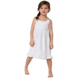 Vêtements Fille Robes courtes La Cotonniere ROBE CLARA blanc