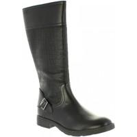 Chaussures Fille Bottes Geox J84D3D 05404 J SOFIA Negro