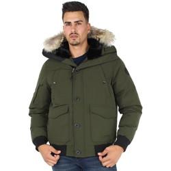 Vêtements Homme Blousons Helvetica Blouson  ref_helv44927 Kaki Vert