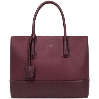 Sacs Femme Cabas / Sacs shopping David Jones Grand Sac à Main Fourre-Tout à 2 Compartiments Rouge