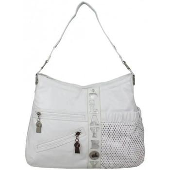 Sacs Femme Sacs porté épaule Playboy Sac épaule seau motif ajouré  PA 6039 Blanc / blanc cassé