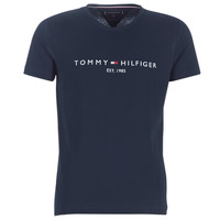Vêtements Homme T-shirts manches courtes Tommy Hilfiger TOMMY FLAG HILFIGER TEE Marine