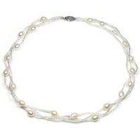 Montres & Bijoux Femme Colliers / Sautoirs Blue Pearls BPS 0202 Y Blanc