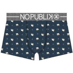 Vêtements Homme Boxers / Caleçons No Publik Boxer Homme Microfibre SNOW BEAR Marine Gris Gris