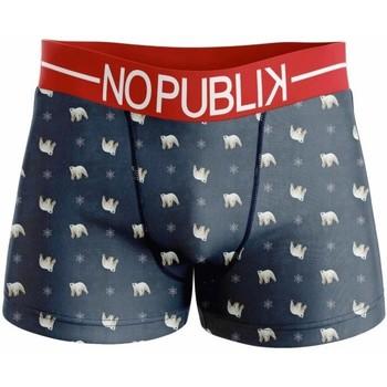 Vêtements Garçon Boxers / Caleçons No Publik Boxer Garçon Microfibre SNOW BEAR Marine Rouge rouge
