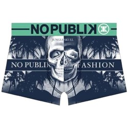 Vêtements Garçon Boxers / Caleçons No Publik Boxer Garçon Microfibre JUNGLE SKULL Marine Vert vert