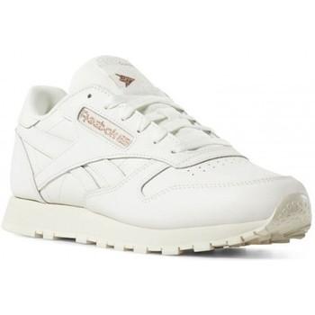 brand new d6513 03f7f Chaussures Femme Running   trail Reebok Sport CL LTHR   BLANC CASSÉ Blanc  cassé